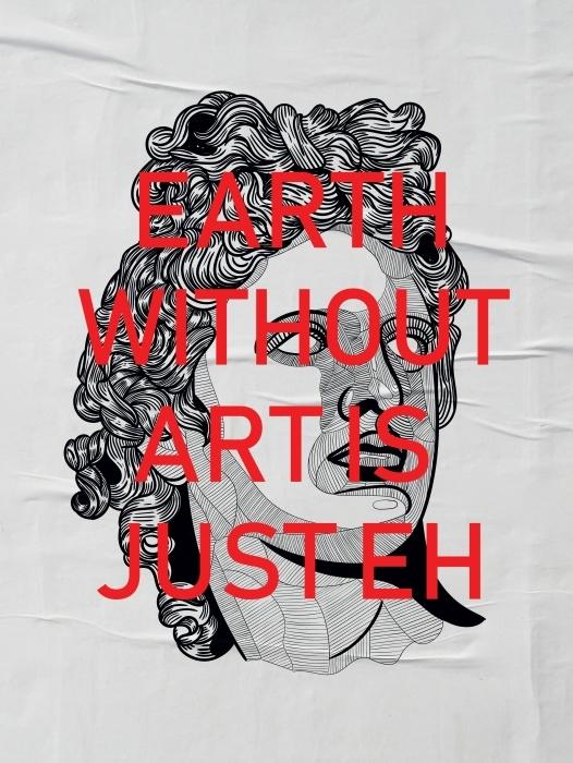 Papier peint vinyle Bearth without art is just Eh -
