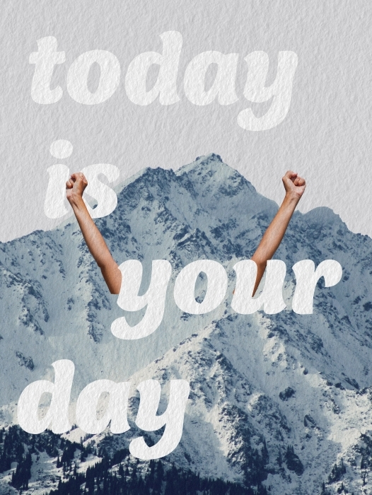 Vinyl Fotobehang Vandaag is jouw dag -