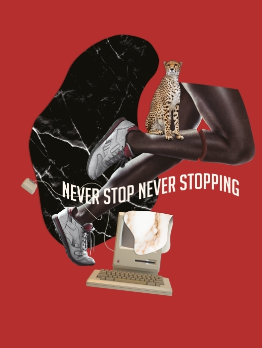 Never stop. Never give up. Vinyl Wall Mural - Motivations