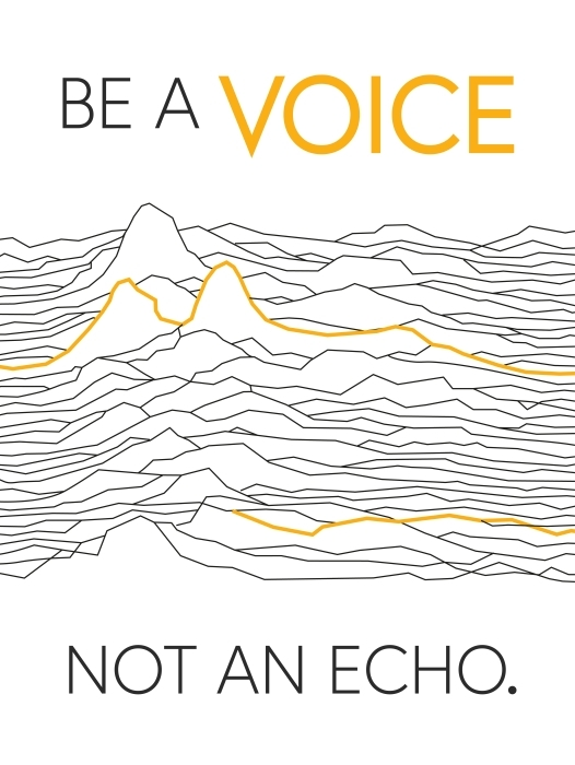 Fotomural Lavable Sé la voz, no el eco -