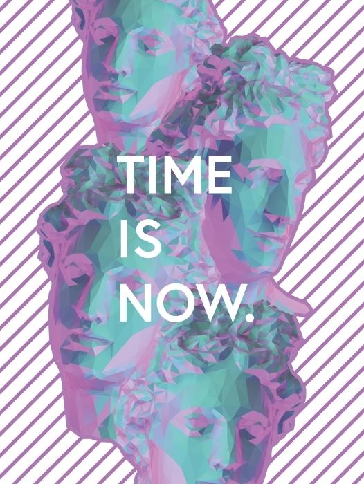 Papier peint vinyle Time is now -