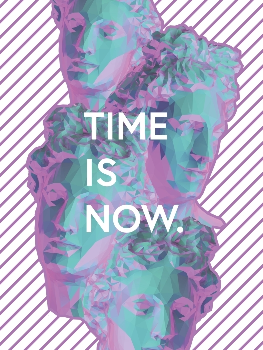 Time is now Vinyl Wall Mural - Motivations