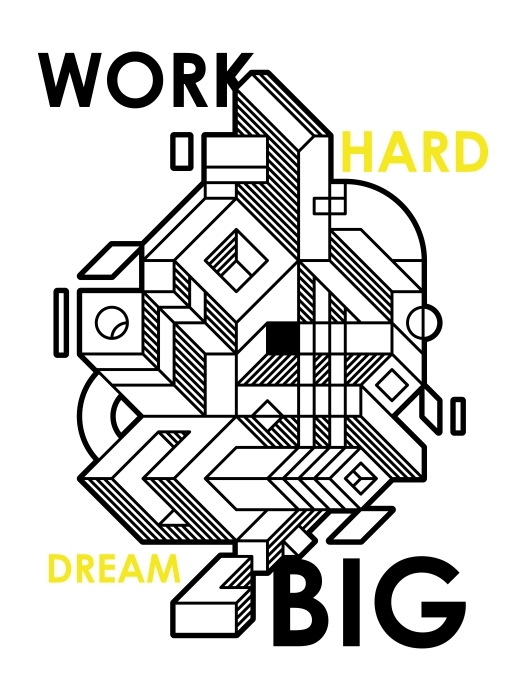 Work hard dream big Vinyl Wall Mural - Motivations
