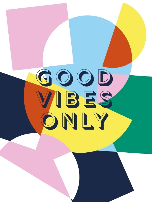 Good vibes only Vinyl Wall Mural - Motivations