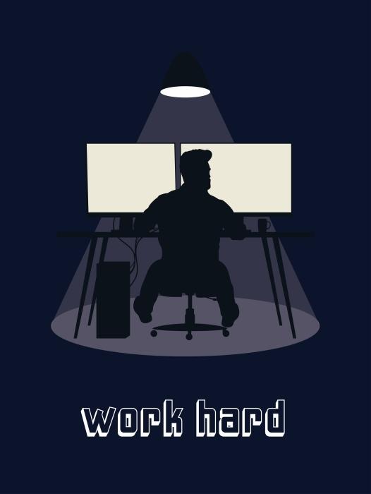 Vinyl Fotobehang Work hard -