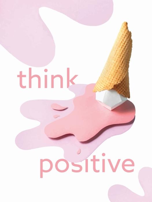 Papier peint vinyle Penser positivement -