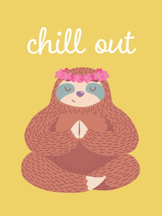 Chill out Vinyl Wall Mural - Motivations