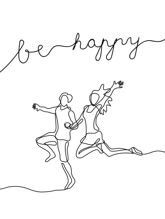 Sticker Pixerstick Soyez heureux -