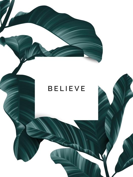 Believe Pixerstick Sticker - Motivations