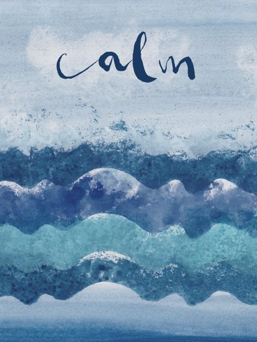 Calm. Vinyl Wall Mural - Motivations