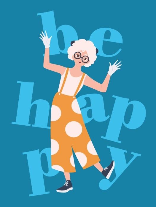 Papier peint vinyle Soyez heureux -