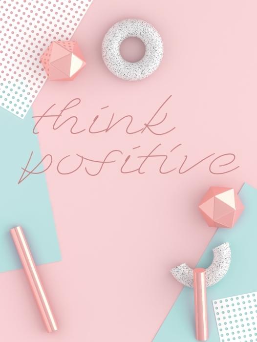 Fototapeta winylowa Myśl pozytywnie - Motywacyjne