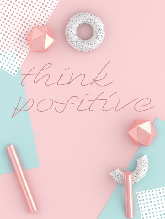 Think positive Vinyl Wall Mural - Motivations