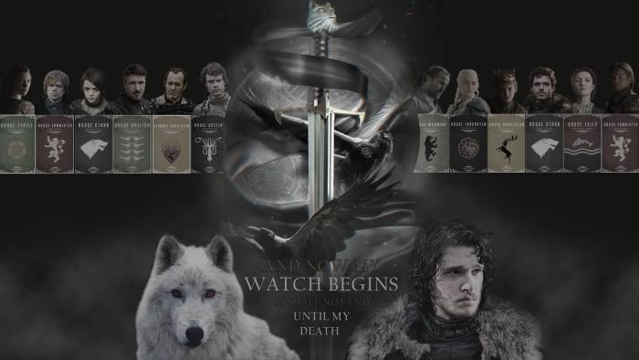 Vinil Duvar Resmi Game of Thrones -