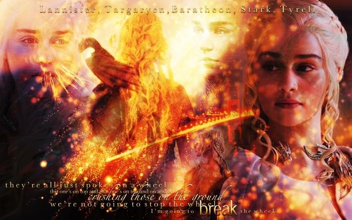 Daenerys Targaryen Vinyl Wall Mural - Themes