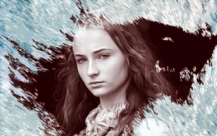 Papier peint vinyle Sansa Stark - Thèmes