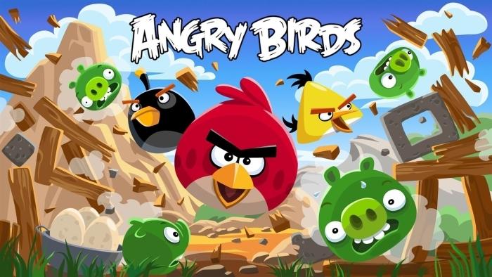 Vinyl Fotobehang Angry Birds - Thema's