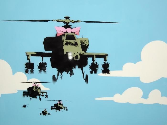 Vinyl Fotobehang Banksy - Thema's