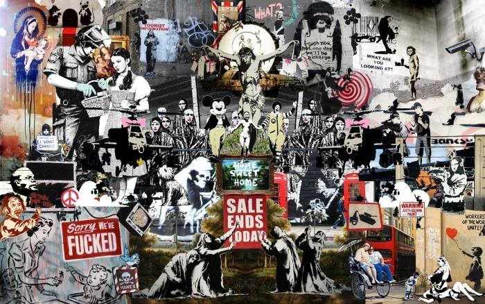 Pixerstick Sticker Banksy - Thema's