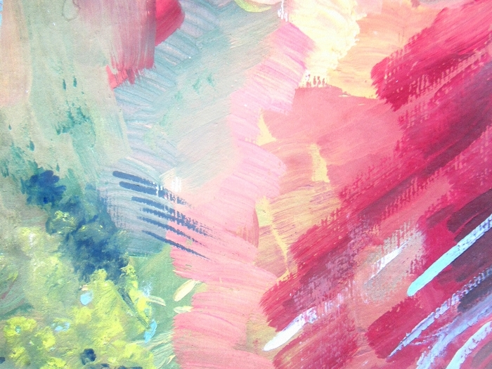 Abstract Brush Painting Background Children S Gouache Drawing Wall Mural Vinyl