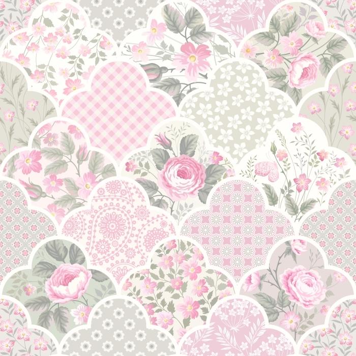 Fototapeta winylowa Kwiatowy wzór z róż w pastelowych kolorach -