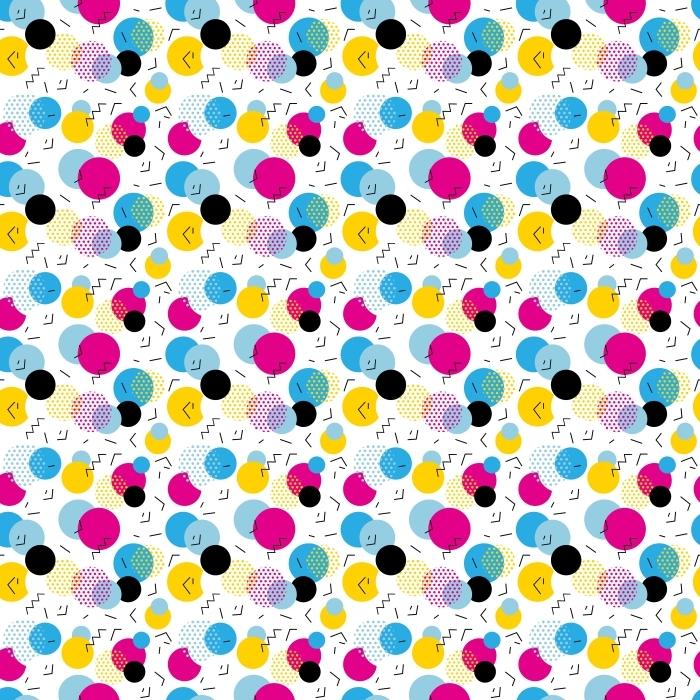Papier peint motif géométrique Seamless dans le style rétro des