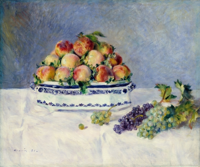 Fotomural Estándar Still Life with Peaches - Impresionismo