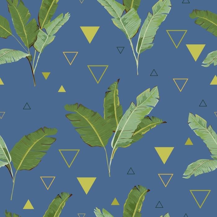 Pixerstick Sticker De tropische Achtergrond van Bladeren -