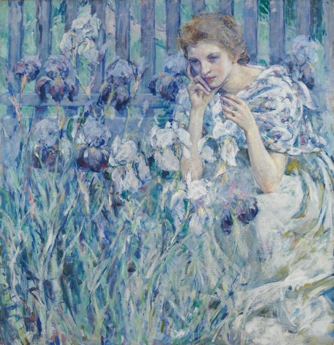 Fotomural Estándar Fleur de Lis - Impresionismo