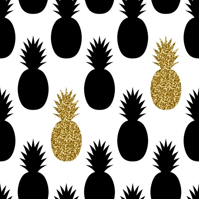 Seamless Pineapples Pattern Poster - Prints