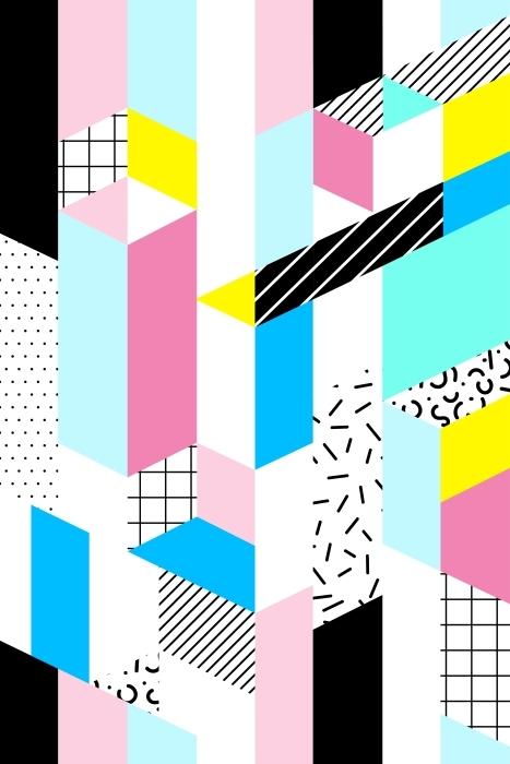 Papier peint vinyle motif géométrique Seamless -