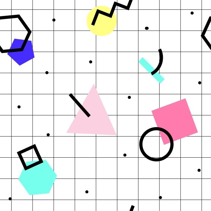 Poster motif géométrique Seamless -