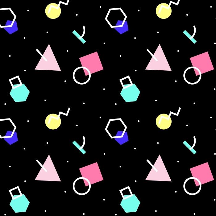 Nálepka Pixerstick Bezešvé geometrický vzor -
