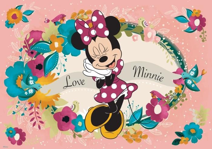 Papier peint Disney Mickey Mouse - Minnie Mouse - test brandowe