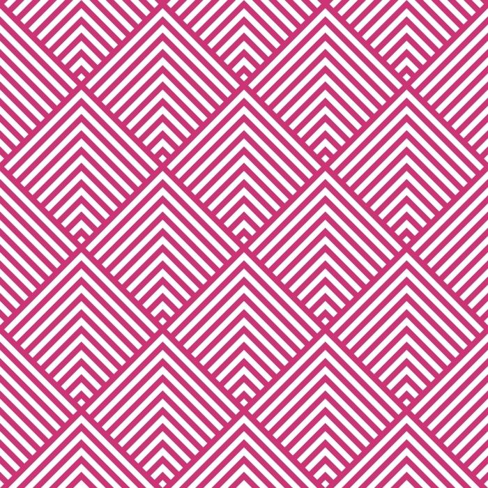 aab3144d Fototapet av vinyl Mønster stripe sømløs rosa yarrow og hvite farger.  Chevron mønster stripe abstrakt bakgrunn vektor EPS-10.