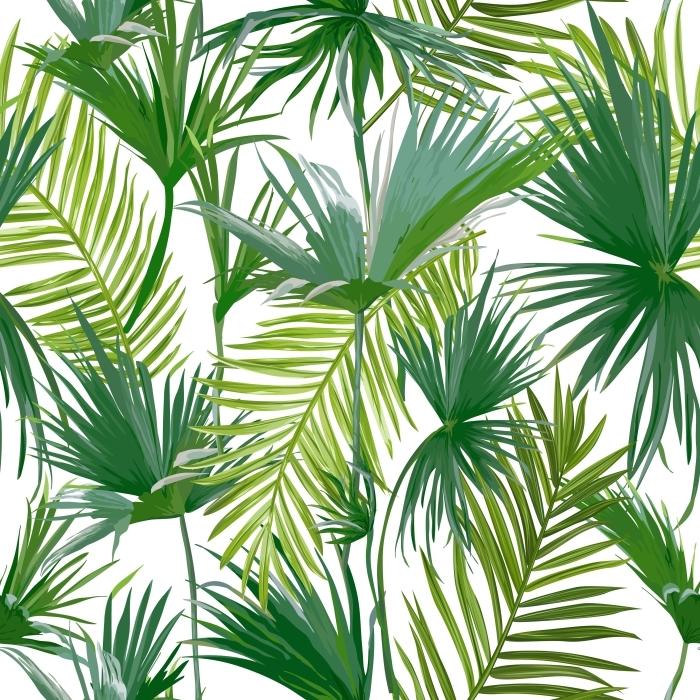 Cam ve Pencere Çıkartması Tropikal Palmiye Yapraklar -