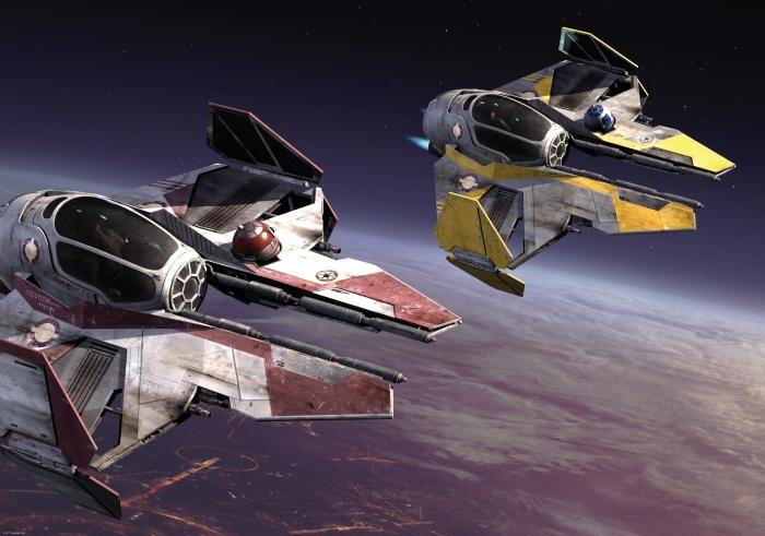 Fotobehang Disney Star Wars - Eta-2 Actis Class Light Interceptor - test brandowe