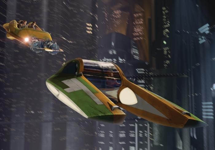 Carta da parati disney guerre stellari airspeeder zam wesell s