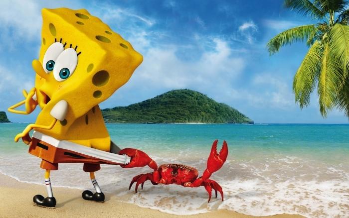 Papier peint vinyle SpongeBob - Criteo