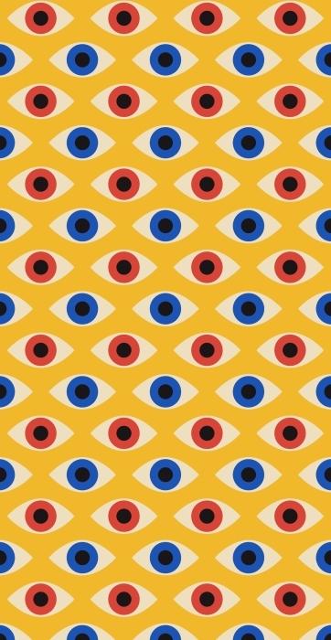 Motyw oczu na żółtym tle wielokrotny Torby bawełniane -