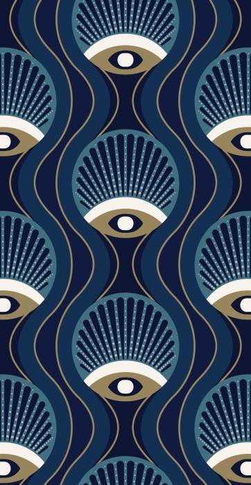 Geometrický stylový vzor 50. léta Bavlněné tašky -