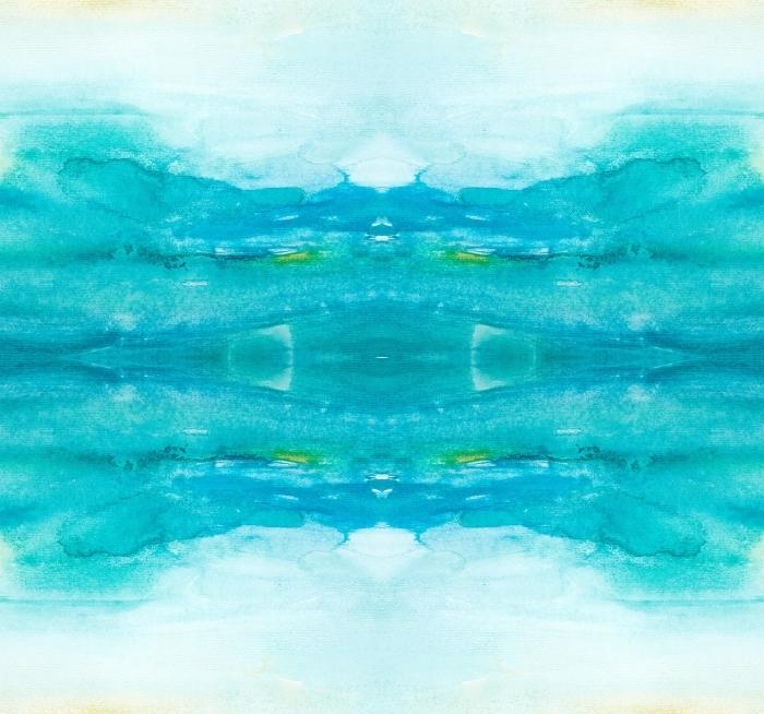 color strokes watercolor painting art Self-Adhesive Wall Mural - Natural Hues