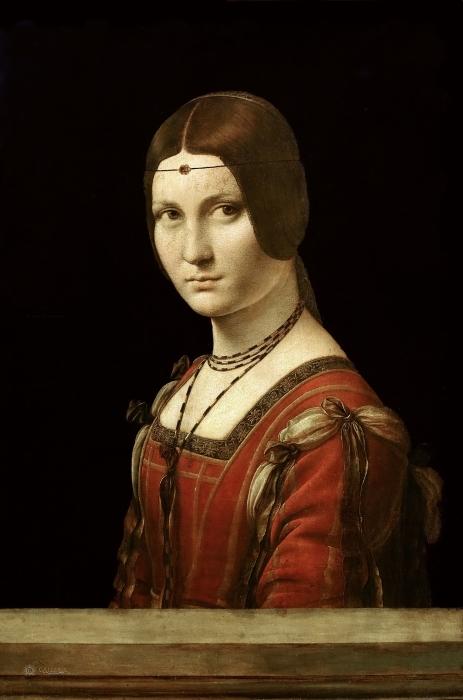 Papier peint vinyle Léonard de Vinci - La Belle Ferronière - Reproductions