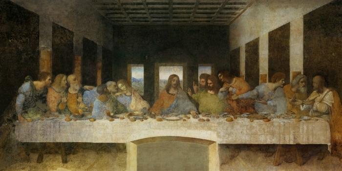 Pixerstick Aufkleber Leonardo da Vinci - Das Abendmahl - Reproduktion