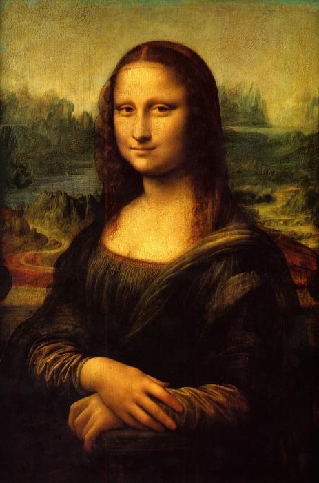 Vinyl-Fototapete Leonardo da Vinci - Mona Lisa - Reproduktion