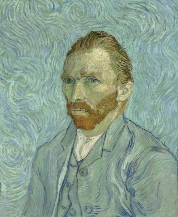 Sticker Pixerstick Vincent van Gogh - Autoportrait - Reproductions