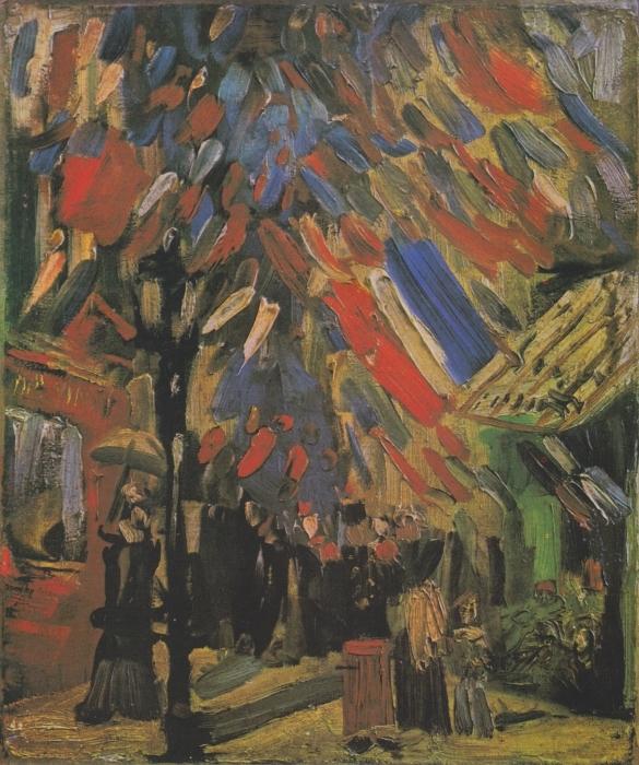 Naklejka Pixerstick Vincent van Gogh - 14 lipca - Reproductions