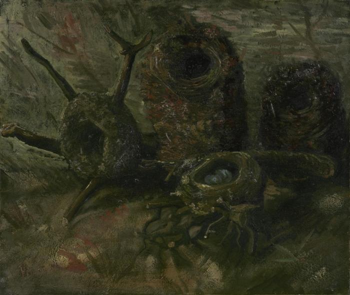 Pixerstick Aufkleber Vincent van Gogh - Vogelnester - Reproductions