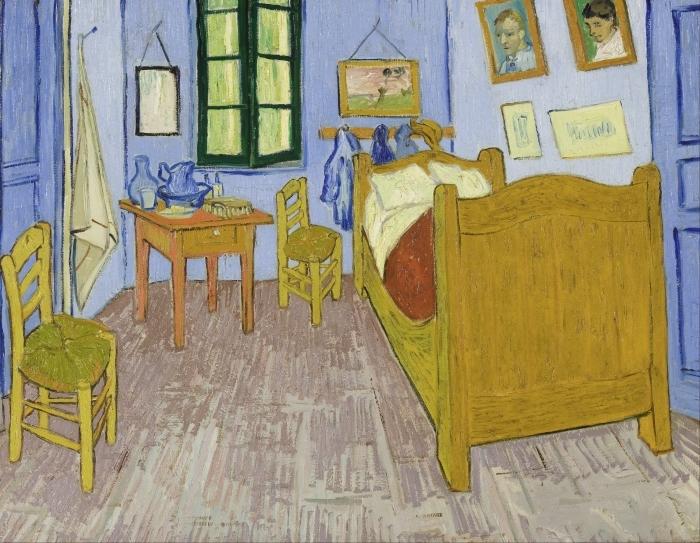 Sticker Pixerstick Vincent van Gogh - La Chambre de Van Gogh à Arles - Reproductions