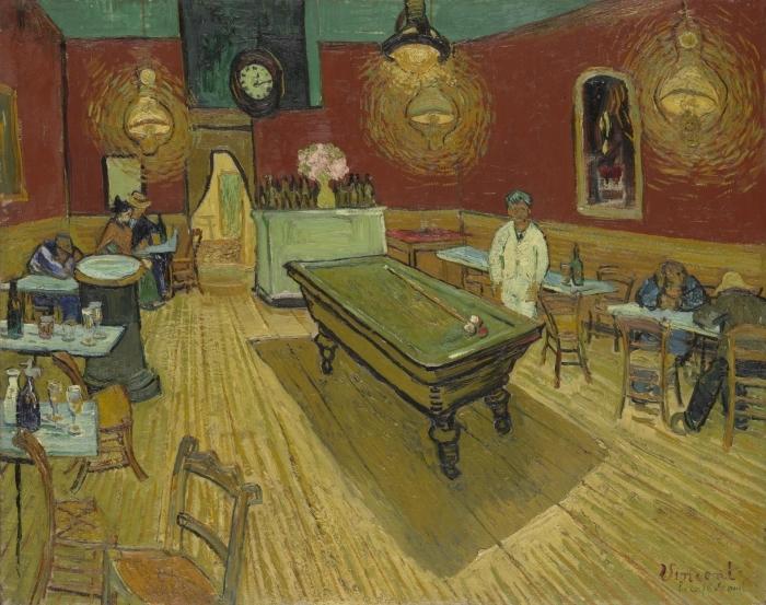 Naklejka Pixerstick Vincent van Gogh - Nocna kawiarnia - Reproductions
